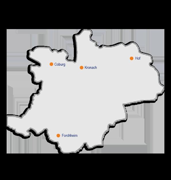 Oberfranken Karte.Elterntalk Standorte Oberfranken